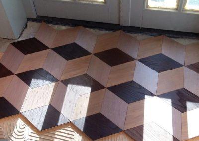 patroonvloer hexagon